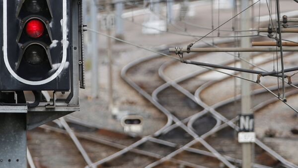 French state-owned railway company SNCF tracks are seen in Nantes, France, May 31, 2016 as railway workers will start a national railway strike on Tuesday evening. - Sputnik International