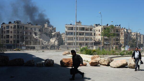 Militants shell a district in Aleppo - Sputnik International