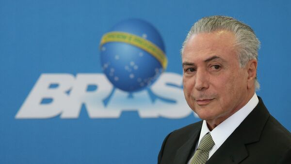 Michel Temer at a summit with state industry leaders - Sputnik International