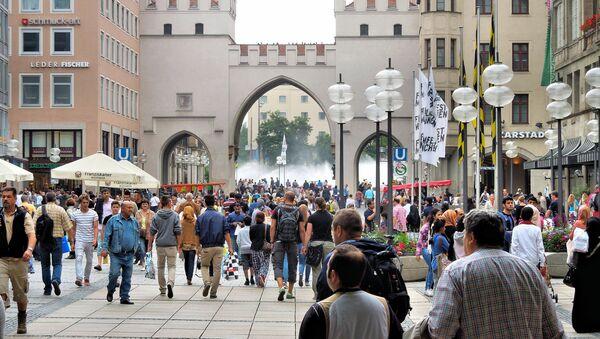 People in streets of Munich, Germany. - Sputnik International