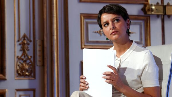 French Education Minister Najat Vallaud-Belkacem attends a news conference following a government meeting on radicalisation and fight against terrorism at the Hotel Matignon in Paris, France, May 9, 2016 - Sputnik International