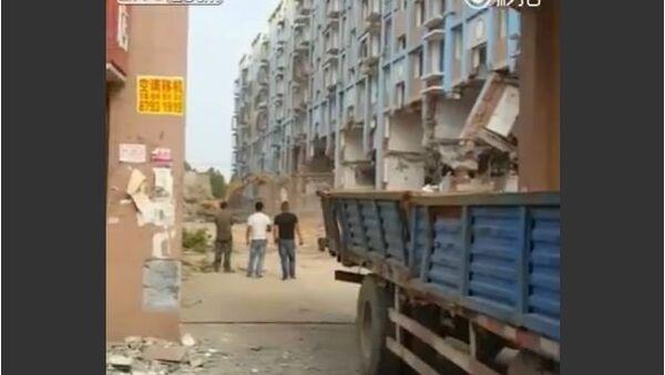 Building demolition in China gone wrong - Sputnik International