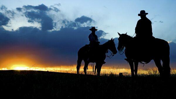 Cowboy silhouette - Sputnik International