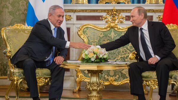 Russian President Vladimir Putin during talks with Israeli Prime Miniter Benjamin Netanyahu in Kremlin. - Sputnik International