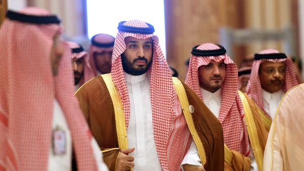 Mohammed bin Salman (2nd L) - Sputnik International