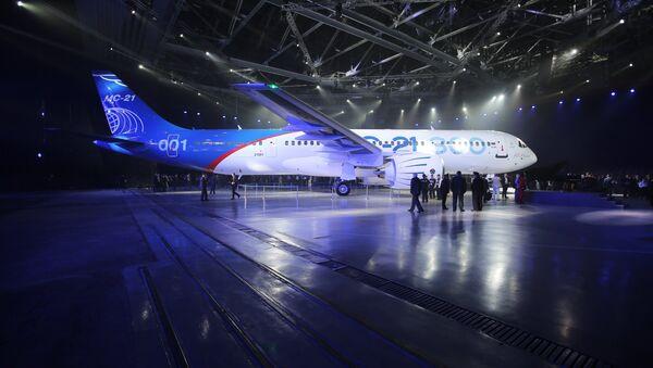 Presentation of MC-21-300 mid-range aircraft at the Irkutsk Aircraft Plant (Irkut Corporation) - Sputnik International