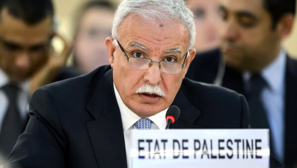 Palestinian Foreign Minister Riyad al-Maliki - Sputnik International