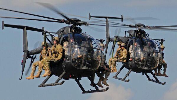 Boeing AH-6 helicopters bring in ground troops - Sputnik International