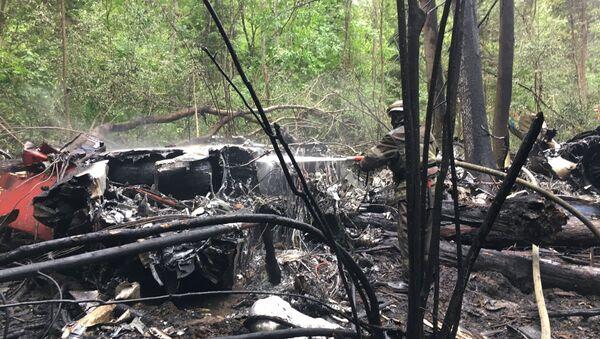Su-27 fighter jet crash site near Moscow - Sputnik International