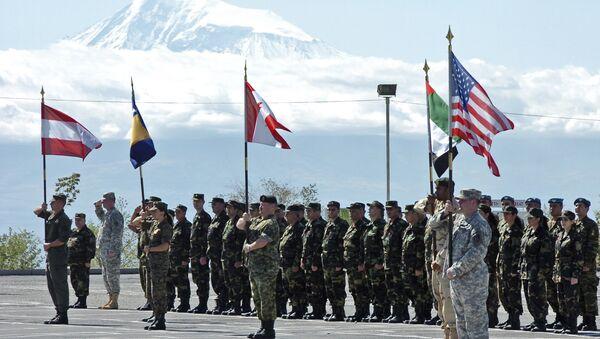 Opening ceremony of joint Armenia - NATO's Partnership for Peace manuevers in Yerevan, Armenia (File) - Sputnik International