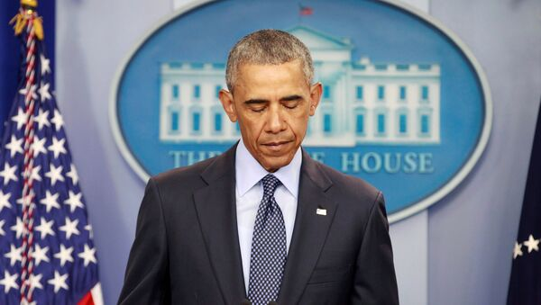 U.S. President Barack Obama speaks about the worst mass shooting in U.S. history that took place in Orlando, Florida, at the White House in Washington, U.S., June 12, 2016 - Sputnik International