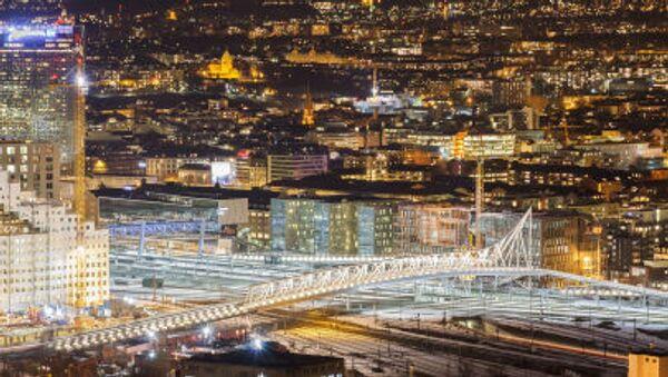 The bridge over the railway. Oslo, Norway. - Sputnik International