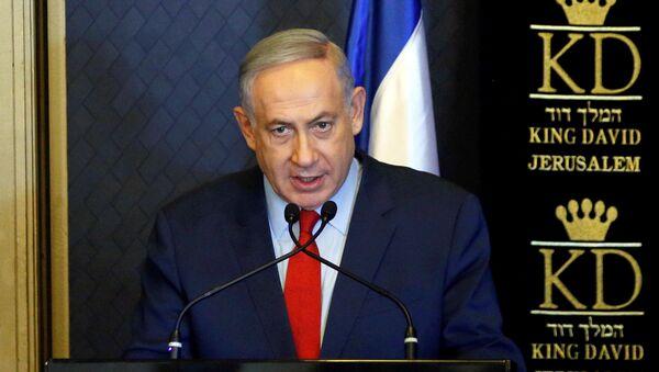 Israeli Prime Minister Benjamin Netanyahu speaks during a meeting with ambassadors from NATO member states, in Jerusalem June 14, 2016. - Sputnik International