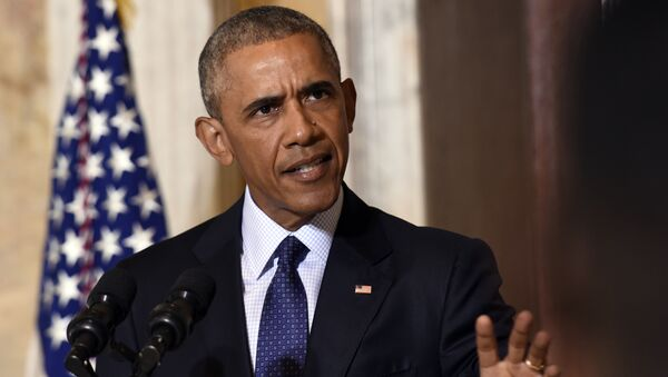 President Barack Obama speaks at the Treasury Department in Washington, Tuesday, June 14, 2016, following a meeting with his National Security Council to get updates on the investigation into the attack in Orlando, Florida and review efforts to degrade and destroy ISIL. - Sputnik International