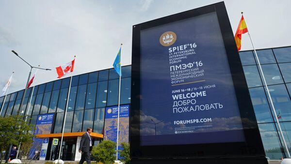 Preparations for St. Petersburg International Economic Forum's opening - Sputnik International