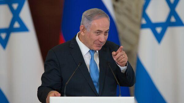 Israeli Prime Minister Benjamin Netanyahu during a joint news conference with Russian President Vladimir Putin in the Kremlin - Sputnik International