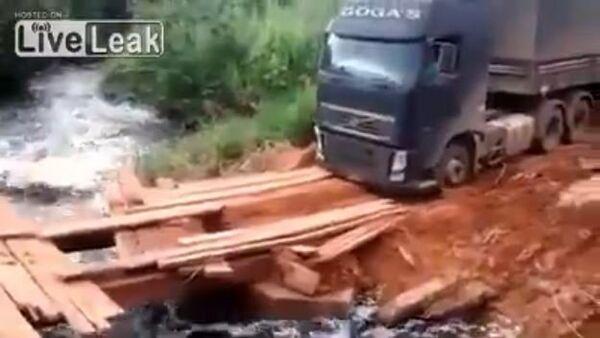 Dangerous Bridges VS Amazing Truck Driver Skills - Sputnik International