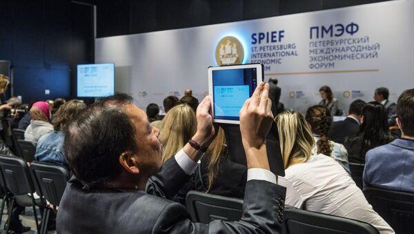 A business roundtable discussion at the St. Petersburg International Economic Forum. - Sputnik International