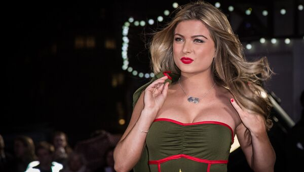 Zara Holland poses for photographers upon arrival at the premiere of the film Dad's Army in London, Tuesday, Jan. 26, 2016. - Sputnik International
