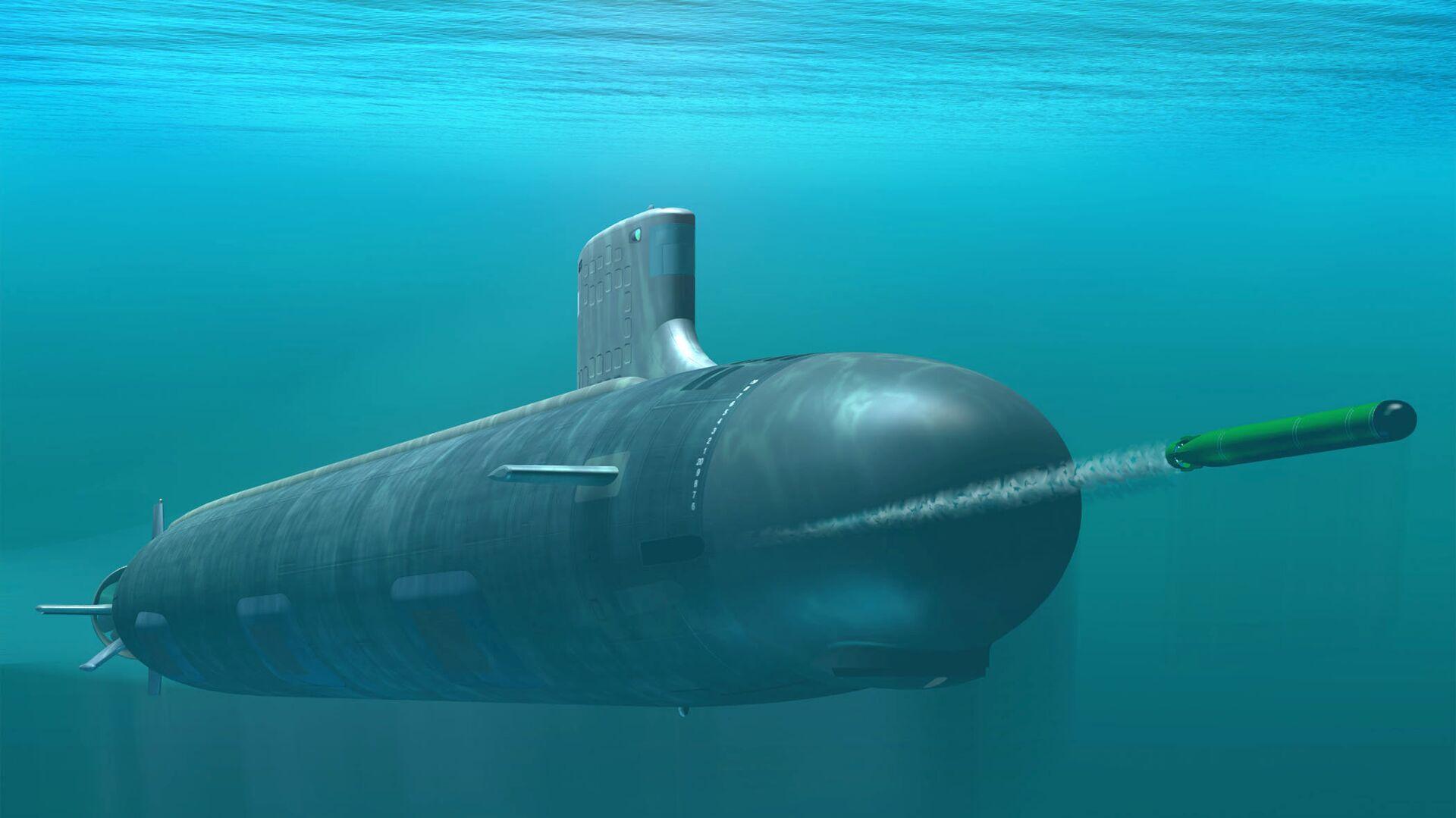 Computer-based rendering of Virginia class attack submarine - Sputnik International, 1920, 13.10.2021