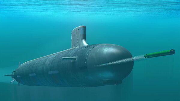 Computer-based rendering of Virginia class attack submarine - Sputnik International
