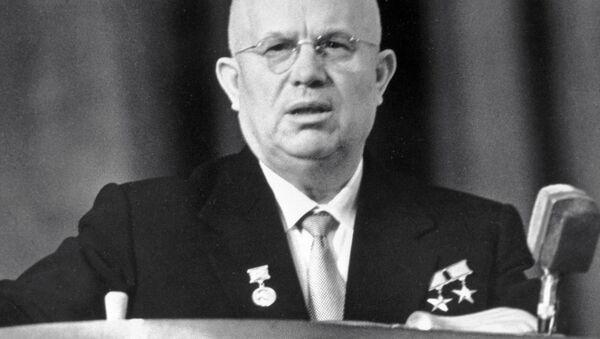 Nikita Khrushchev Addresses Rally - Sputnik International