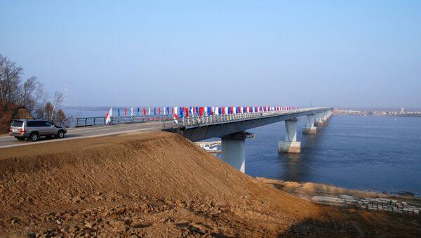 Bridge over Amur channel on Bolshoi Ussurisky island opens - Sputnik International