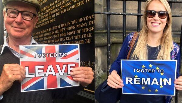 British voters in the EU referendum. - Sputnik International