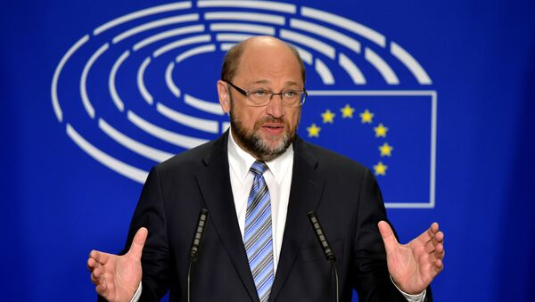 European Parliament President Martin Schulz gives a statement after the conference of Presidents at the European Parliament in Brussels, Belgium, June 24, 2016 - Sputnik International