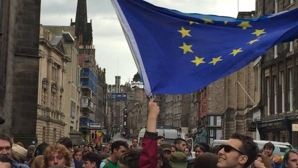 Pro-EU rallies held throughout Scotland as rest of the UK votes for Brexit - Sputnik International