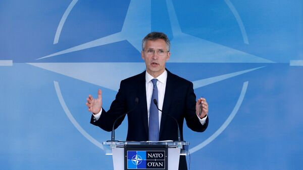 NATO Secretary-General Jens Stoltenberg briefs the media during a NATO defence ministers meeting at the Alliance headquarters in Brussels, Belgium, June 14, 2016 - Sputnik International