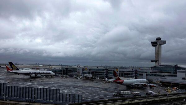 A general view of the international arrival terminal at JFK airport in New York - Sputnik International