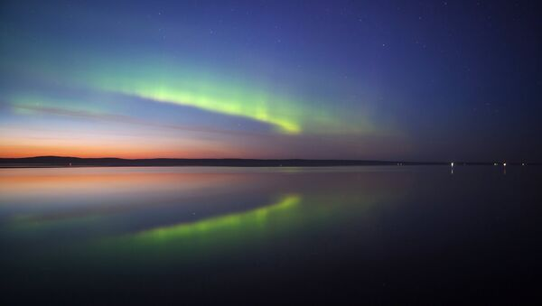 Aurora borealis in Petrozavodsk - Sputnik International