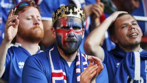 Iceland fans at the UEFA Euro 2016 round of 16 match between the national teams of England and Iceland - Sputnik International