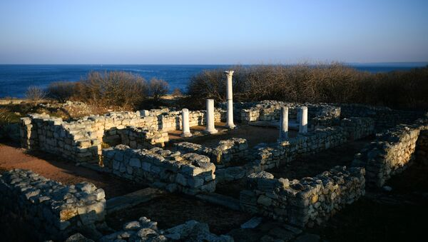 The ruins of the ancient city of Chersonesus, part of the national reserve Tauric Chersonese - Sputnik International