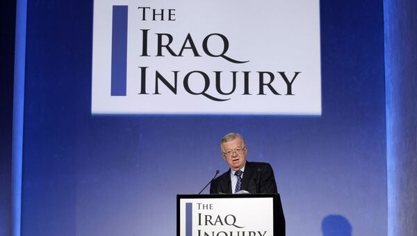 John Chilcot, the chairman of the Iraq Inquiry, outlines the terms of reference for the inquiry and explains the panel's approach to its work during a news conference to launch it at the QEII conference centre in London, Thursday, July 30, 2009. T - Sputnik International