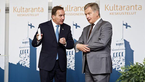 Finland's President Sauli Niinisto and Sweden's Prime Minister Stefan Lofven (File) - Sputnik International