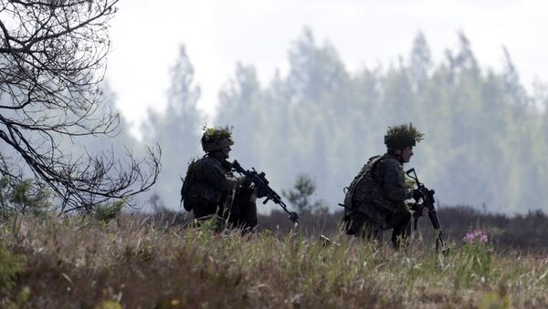 Polish army soldiers take part in the Saber Strike NATO military exercise in Adazi, Latvia, June 13, 2016. - Sputnik International