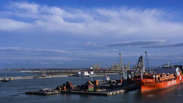 Ships in the port of Livorno (Tuscany). - Sputnik International