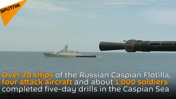 Military Drills in Caspian Sea - Sputnik International