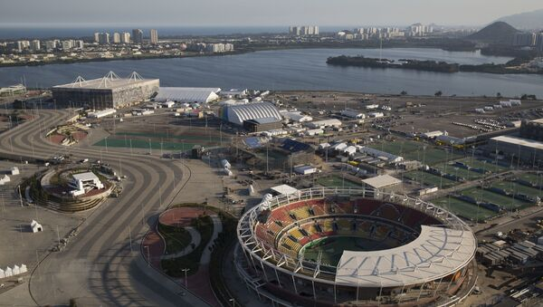 The Olympic Park of the 2016 Olympics is seen from the air, in Rio de Janeiro, Brazil, Monday, July 4, 2016 - Sputnik International