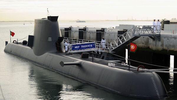 Portugal's Tridente-class submarine on its arrival to Alfeite naval base - Sputnik International