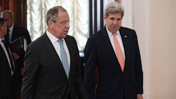 Foreign Minister Sergei Lavrov meets with US Secretary of State John Kerry - Sputnik International