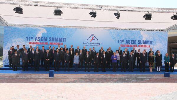 Prime Minister Dmitry Medvedev at the ASEM Summit in Mongolia - Sputnik International