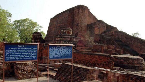 Ruins of Nalanda University some 90 kms from Bihar state capital Patna - Sputnik International