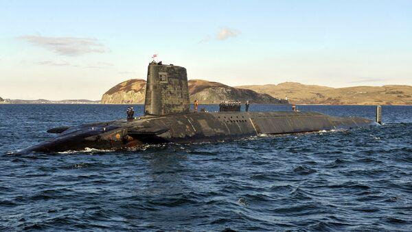 Trident Nuclear Submarine, HMS Victorious, on patrol off the west coast of Scotland - Sputnik International