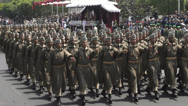 Moroccan Army soldiers parading in Rabat, Morocco (File). - Sputnik International