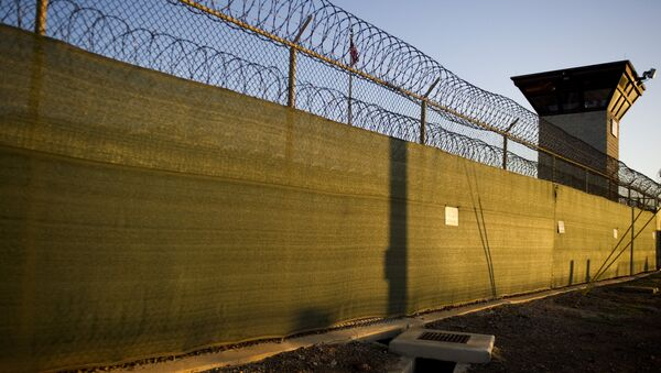 The guard tower of Camp Six detention facility of the Joint Detention Group at the US Naval Station in Guantanamo Bay, Cuba (File) - Sputnik International
