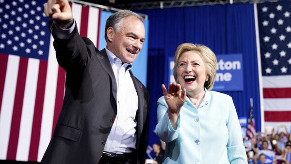 Hillary Clinton and Tim Kaine at VP Announcement Event in Miami, Florida - Sputnik International