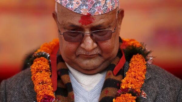 Nepal's Prime Minister Khadga Prasad Sharma Oli, also known as K.P. Oli. - Sputnik International